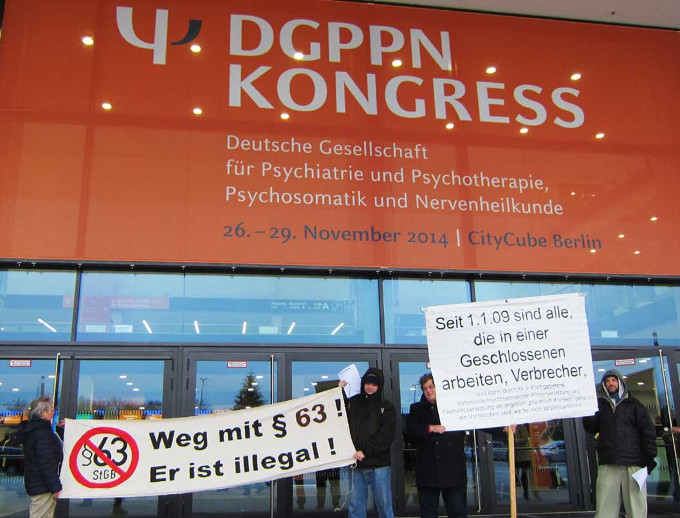 prostest vor dgppn-kongress 2014